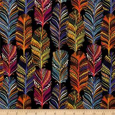 Michael Miller Indian Summer Catching Dreams Jewel from @fabricdotcom  From Michael Miller Fabrics, this cotton print collection features a motley of bold, beautiful colors, and bohemian and abstract prints. Perfect for quilting, apparel, and home decor accents. Colors include navy, pink, orange, yellow, green, blue, and white.