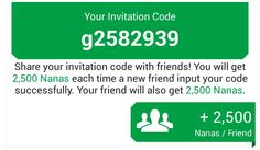 Inter my code on appnana please!!!!
