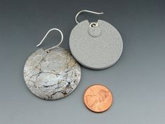 Spatters Big Earrings Polymer Clay Jewelry