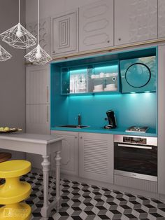 """Picture from """"Bachelorette"""" - project by interiordelight. An artist has no home in Europe save in Paris (Nietzsche) Loft, Kitchen Cabinets, Interior Design, Architecture, Design Projects, Hipster, Europe, Paris, Home Decor"""