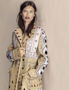 Model Bianca Balti wears Valentino coat