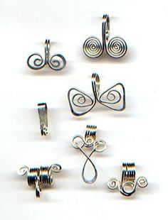 an alternative to glue-on bails available st stores ... make your own, with lots of design choices