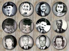 Hiders and helpers: 1st row, left to right: Otto frank, Edith Frank, Margot Frank Anne Frank. 2nd row, left to right: Herman Van Pels, Auguste Van Pels, Peter Van Pels. 3d row from left to right: Miep Gies, Johannes Kleiman, Victor Kugler, Bep Voskuijl.