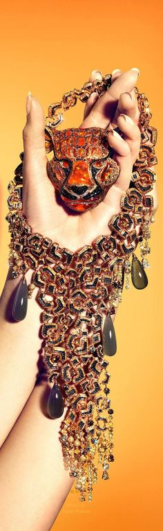 ~Chopard limited edition Regal Tiger Necklace | House of Beccaria#