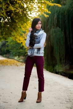 Cute Fall Gray Outfit - Stylishlyme
