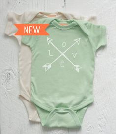 Crossed Arrows Love Newborn by twiddleANDtweet, $16.50