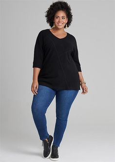 Plus Size Women's Clothing in Australia Plus Size Womens Clothing, Clothes For Women, Girlfriend Jeans, Taking Shape, The Girlfriends, Ribbed Top, Ribbed Fabric, Sneaker Boots