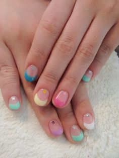 Multi-colour tips in candy colours? Love!