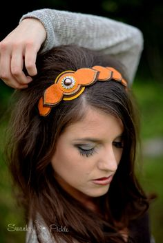 Womens Fall Headband Felt Flowers Autumn от SwankyPickleBoutique