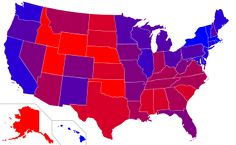 Red states and blue states refer to those states of the United States whose residents predominantly vote for the Republican Party (red) or Democratic Party (blue) presidential candidates.
