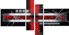 Cuadro abstracto rojo 778