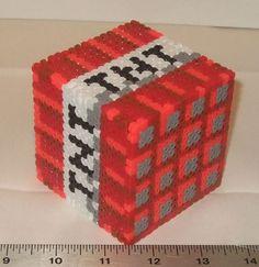 Minecraft TNT Cube 3D Perler Model. $18.00, via Etsy.