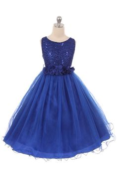 Lilac Sleeveless Shiny Tulle Flower Girls Dress with Floral Waist sash
