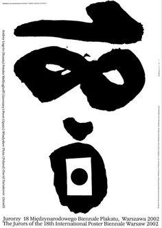 Exhibition Poster by Mieczysław Wasilewski (b. 1942), 2002, 18th International Poster Biennale in Warsaw. #PolishPoster #Numbers