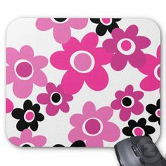 1960s MOD Flower Child  Mousepad