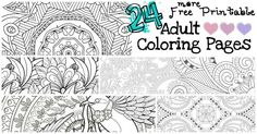 I can either color some Disney princess for the 954th time or I can just download one of these24 More Free Printable Adult Coloring Pages. LOL!