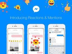 Messenger recebe novas reações e menções