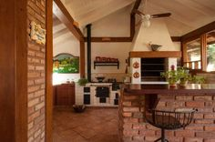 Modelos de Edículas: 54+ Projetos & Fotos Incríveis! Edícula com churrasqueira Edícula simples Area de churrasqueira