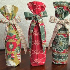 Tie Dye Diva Patterns: Christmas in July - Fabric Wine Gift Bag Tutorial!