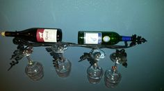Wine glass and bottle holder by Mac's Custom Creations