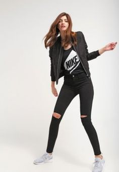 Nike Sportswear - FUTURA - Toppe - black/white