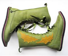 Hand Made Leather Boots for Women, MOONSHINE Prickle version by Fairysteps Shoes.