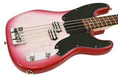 Fender Jason Smith Precision Electric Bass Guitar Cherry Blossom Burst 55 Style Custom Shop | Rainbow Guitars