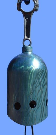 Bell, Wind chime, gong, plasma cut, doorbell, recycled tanks, fire