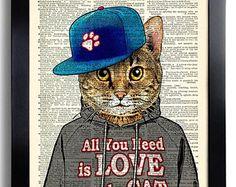 Cool Cat Boy Poster tutti