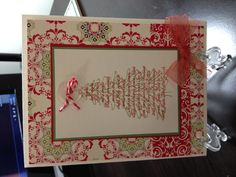 Christmas idea using Stampin up Evergreen stamp set
