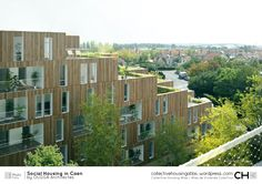 [Collective Housing Atlas] Social Housing in Caen by OLGGA Architectes Modern Residential Architecture, Architecture Design, Lofts, Co Housing Community, Sheltered Housing, Social Housing, Habitats, Images, The Unit