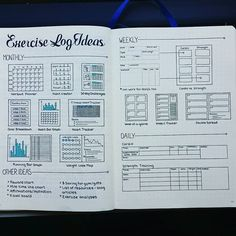 Image result for exercise plan bullet journal layout