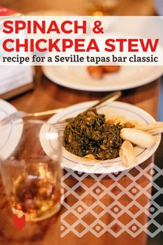 As a city once ruled by the Moors, some of the best foods in Sevilla, Spain still boast a hint of a Middle Eastern or North African influence. One of our favorites is spinach and chickpea stew, a tapas bar classic that comes together with market-fresh ingredients in no time at all. Bring it to life back home with this easy espinacas con garbanzos recipe! Spanish Dishes, Spanish Food, Best Veggie Burger, Pork Cheeks, Tapas Dishes, Chickpea Stew, Tapas Bar, Vegan Restaurants, Easy Delicious Recipes