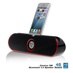 * CHRISTMAS SALE * Contixo Portable Wireless Bluetooth v4.0 Stereo Speaker Stand w/ Viewing Cradle, Dual-Driver, Enhanced Bass Boost, Powerful Crystal-Clear Sound, Built in Mic Speaker System, 3.5mm AUX Port, Rechargeable Battery, Works for Apple iPad Air
