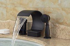 Rozinsanitary Modern Oil Rubbed Bronze Bathroom Tub Faucet C Curved Tub Spout W/ Hand Shower Rozinsanitary https://www.amazon.ca/dp/B014D024TC/ref=cm_sw_r_pi_dp_CeW.wbBAKEKR5
