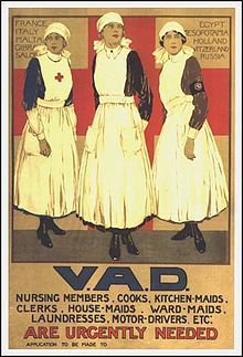 38,000 VADs worked as nursing assistants, ambulance drivers and cooks. Flora's friend Sheila is one of them