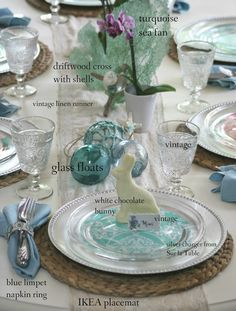 I love the final EASTER table with the addition of a white chocolate bunny...