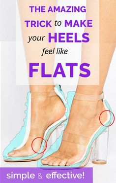 the simplest way to make wearing heels all day comfortable! If you love wearing high heels, pumps, or have a pair of favorite shoes that may be a bit tight this is perfect for you!