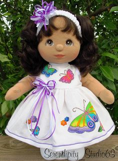 Custom My Child Doll Dress -Butterfly applique-SOLD