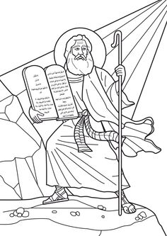 Moses Receives The Ten Commandments Coloring Pages
