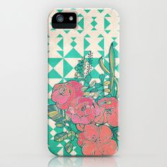 Triangles & Roses  iPhone & iPod Case by micklyn - $35.00