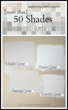 With more than 50 shades of gray, Sherwin-Williams has the perfect paint color for your home.(I prefer the warmer beigy- greys)