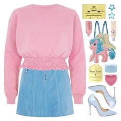 """""""Untitled #3030"""" by megan-vanwinkle ❤ liked on Polyvore featuring Moschino, Karen Millen, River Island, CASSETTE, H&M, Avon, Calvin Klein, Steve Madden, Aveda and Too Faced Cosmetics"""