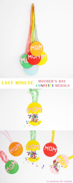 LAST MINUTE MOTHER'S DAY CONFETTI MEDAL |