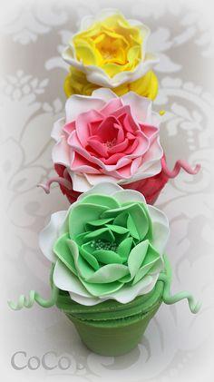 flowerpot cupcakes | Flickr - Photo Sharing!