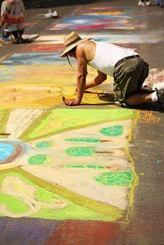 amazing chalk art!