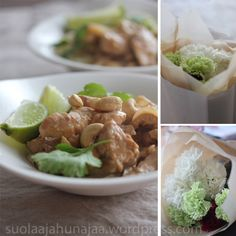 Easy and fast dinner in less than 30 minutes: Chicken and cashew curry