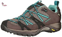 Merrell Siren Sport Gore-tex, Chaussures de Randonnée Basses femme, Multicolore (Espresso/Mineral), 42.5 EU - Chaussures merrell (*Partner-Link)