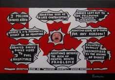 MAKE CANADA PROLIFE AGAIN like it always was prior to 1988 when it became fashionable to have your own offspring killed in the womb. Acrylics on a stretched canvas, unframed by approx. The 8th Amendment, Naive Art, Outsider Art, Pro Life, Stretched Canvas, Acrylics, Christianity, Folk Art, Canada