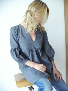 Tunic 'My Garden'  - on etsy. Want to find a pattern for something like this.